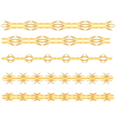 Gold seamless border vector