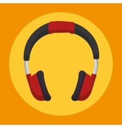 Headset sound device icon vector