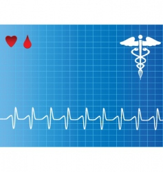 heartbeat vector image vector image