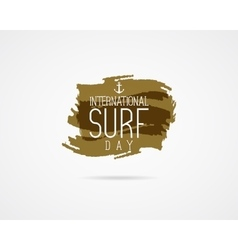 International surfing day graphic elements vector image vector image