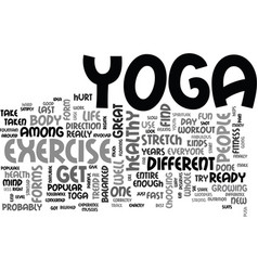 Is yoga for you text background word cloud concept vector