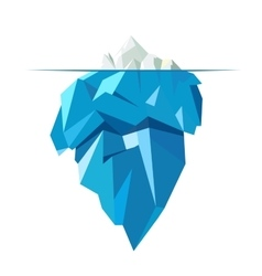 Isolated full big iceberg flat style vector