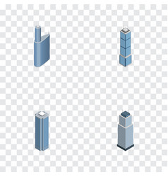 Isometric skyscraper set of skyscraper tower vector