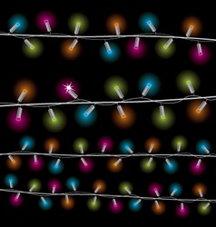 Lights for the new year vector image vector image