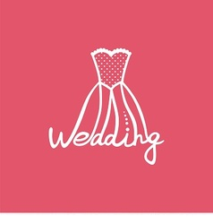 Logo wedding dress vector