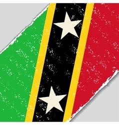 Saint kitts and nevis grunge flag vector