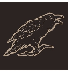 Screaming black crows vector
