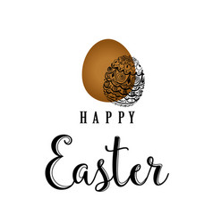 sketched happy easter happy easter hand lettering vector image vector image