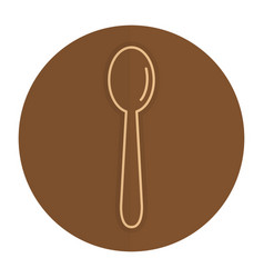 spoon cutlery isolated icon vector image vector image