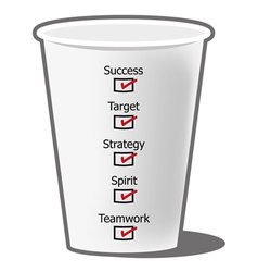 Success concept with coffee cup design vector