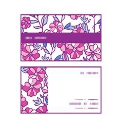 Vibrant field flowers horizontal stripe frame vector