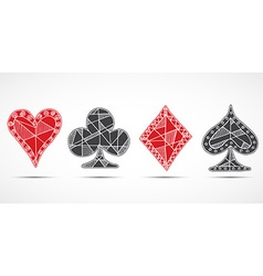 Hand drawn sketched playing cards poker blackjack vector