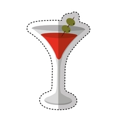 Cup drink party isolated icon vector