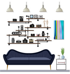 Small living room vector