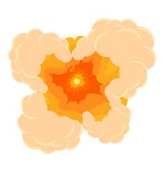 Cloudy explosion icon cartoon style vector