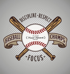 Baseball champ fill name vector