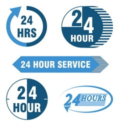 24 hours service logo and icon vector image vector image