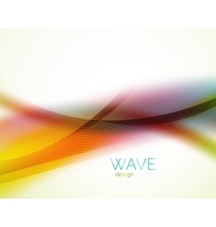 Unusual blur wave abstract background vector