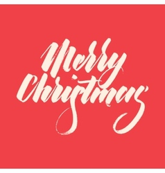 Light Abstract Merry Christmas Lettering vector image