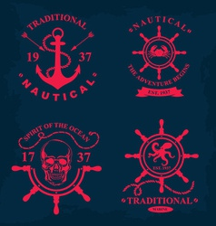 T-shirt print nautical marine badge design vector