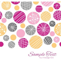 Abstract textured bubbles horizontal border vector