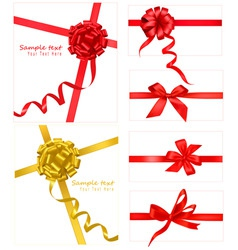 Collection with bows and ribbons vector