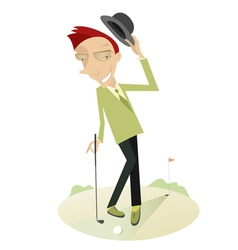 Gentleman on the golf course vector