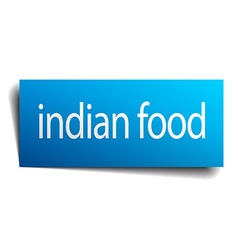 Indian food blue paper sign isolated on white vector