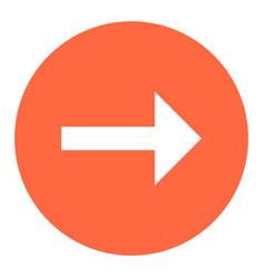 arrow sign flat circle icon vector image vector image