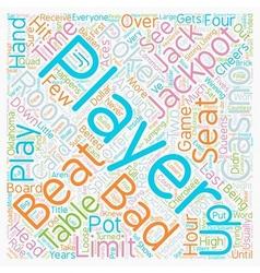 Bad beat text background wordcloud concept vector