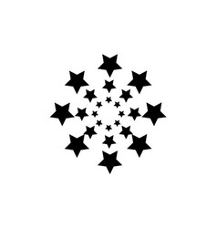 Black star on white background collection stock vector