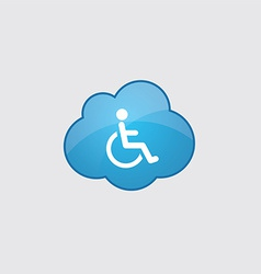 Blue cloud cripple icon vector image