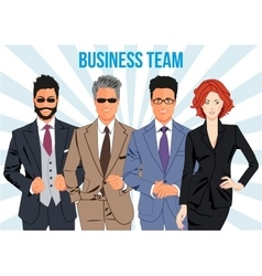 Business team and teamwork design concept vector