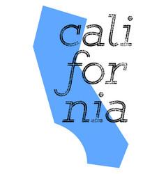 california sticker stamp vector image