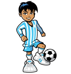 Cartoon soccer football player vector