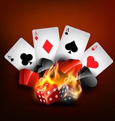 casino card vector image