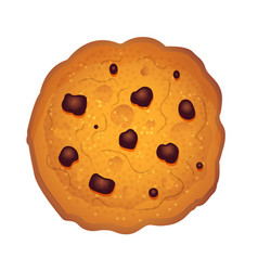 Chocolate chips cookie vector