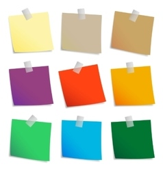 Colored set of sticky notes vector image