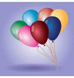 Colorful balloons with helium eps10 vector