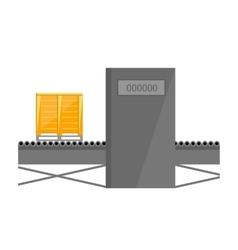 Conveyor belt isolated on white background vector