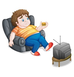 Couch potato vector image