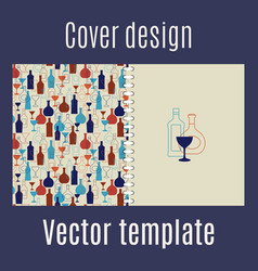 Cover design with silhouette bar drinks vector