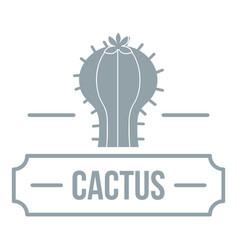 Decoration cactus logo simple gray style vector