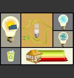 Ecology and alternative energy set vector