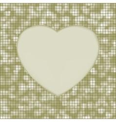 elegant heart mosaic background vector image