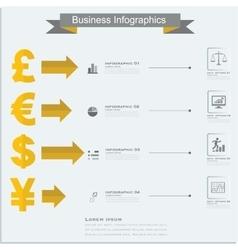 Finance money infographics currency symbols vector