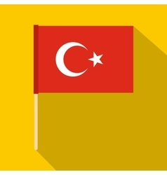 Flag of Turkey icon flat style vector image