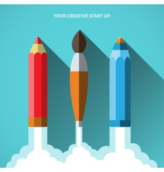 Flat design concept of new creative business vector