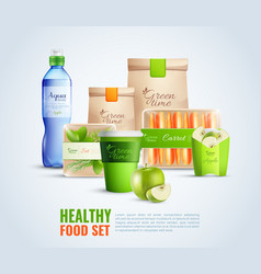 Healthy food packaging template vector