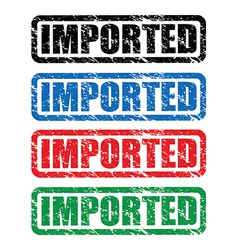 imported stamp vector image vector image